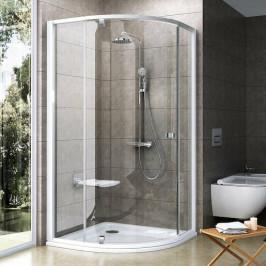 Sprchový kút Ravak Serie 300 štvrťkruh 90 cm, sklo číre, biely profil PSKK390T0