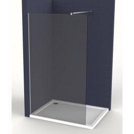 Pevná stena Anima Walk-in 80 cm, dymové sklo, chróm profil WI80KS