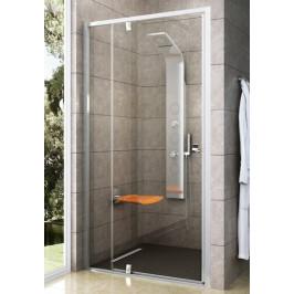 Sprchové dvere Ravak Serie 300 jednokrídlové 120 cm, sklo číre, biely profil PDOP2120T00