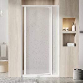 Sprchové dvere Ravak Supernova jednokrídlové 80 cm, nepriehľadný plast, biely profil SDOP80P0