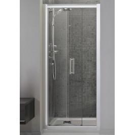 Sprchové dvere Ideal Standard Synergy skladací 80 cm, sklo číre, chróm profil L6368EO