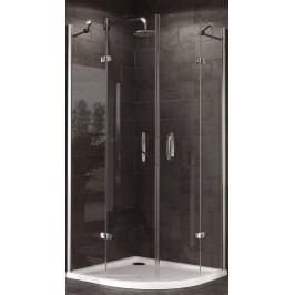 Sprchový kút Huppe Strike štvrťkruh 100 cm, R 550, sklo číre, chróm profil, univerzálny 430804.092.322