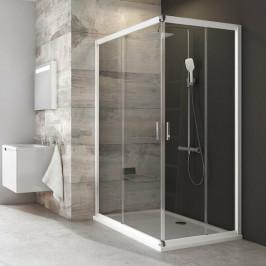 Sprchový kút Ravak Blix štvorec 90 cm, sklo číre, biely profil BLRV2K90T0