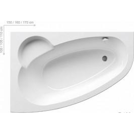 Rohová vaňa Ravak Asymmetric 160x105 cm, ľavá, akrylát, 215 l ASY1600L