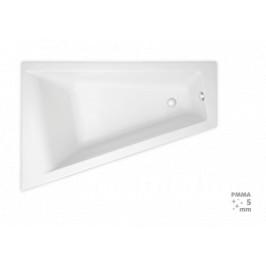 Rohová vaňa Laguna Idea Plus 160x100 cm, ľavá, 100% akrylát, 200 l ID1600LPLUS