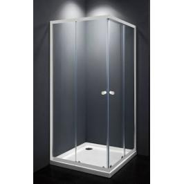 Sprchový kút Multi Basic štvorec 90 cm, sklo číre, biely profil, univerzálny SIKOMUQ90T0