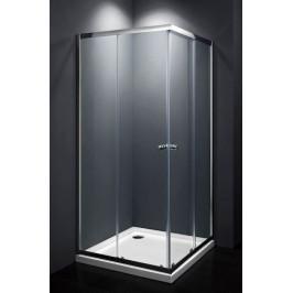 Sprchový kút Multi Basic štvorec 80 cm, sklo číre, chróm profil, univerzálny SIKOMUQ80CRT