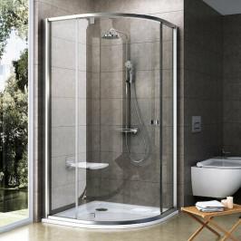 Sprchový kút Ravak Serie 300 štvrťkruh 80 cm, sklo číre, satin profil PSKK380TS