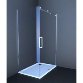 Sprchový kút Anima T-Linea obdĺžnik 80 cm, sklo číre, chróm profil TL12080TPSET
