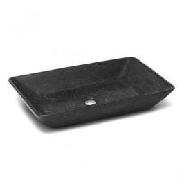 Umývadlo na dosku Triomini Lapis 60x38 cm Blue stone mat bez prepadu LA6038BS