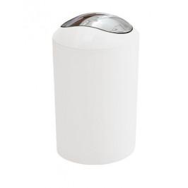 Odpadkový kôš voľne stojaci Kleine Wolke Glossy 5 l biela 5063115858
