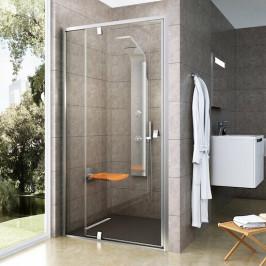 Sprchové dvere Ravak Serie 300 jednokrídlové 110 cm, sklo číre, satin profil PDOP2110TS