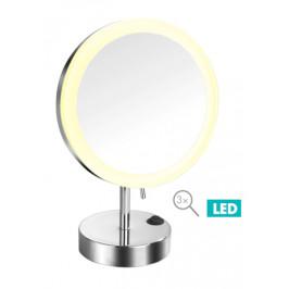 Optima Kozmetické zrkadlo LED stojacie, guľaté KZSTOJLEDO