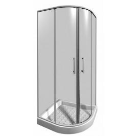 Sprchový kút Jika Lyra plus štvrťkruh 80 cm, R 550, sklo číre, biely profil 5338.1.000.668.1
