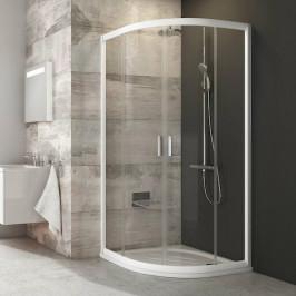 Sprchový kút Ravak Serie 200 štvrťkruh 90 cm, sklo číre, biely profil BLCP490T0