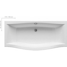 Obdĺžniková vaňa Ravak Magnolia 170x75 cm, akrylát, 260 l MG1700