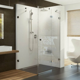 Sprchový kút Ravak Brilliant štvorec 90 cm, sklo číre, chróm profil BSDPS90TCRP