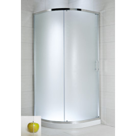 Sprchový kút Jika Plan štvrťkruh 90 cm, R 550, sklo číre, chróm profil, univerzálny 5024.2.002.668.1