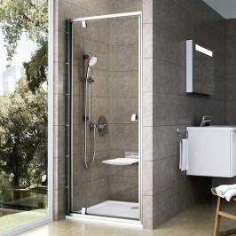 Sprchové dvere Ravak Serie 300 jednokrídlové 90 cm, sklo číre, satin profil PDOP190TS