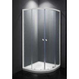 Sprchový kút Multi Basic štvrťkruh 90 cm, R 550, nepriehľadné sklo, biely profil, univerzálny SIKOMUS90CH0