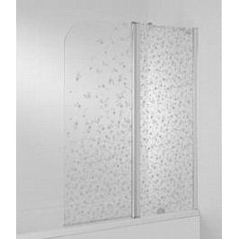 Vaňová zástena Jika Cubito 115x140 cm pravá, nepriehľadné sklo 5742.6.002.669.1