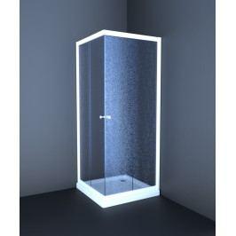 Sprchový kút Anima T-Element štvorec 80 cm, nepriehľadné sklo, biely profil TEL80CH
