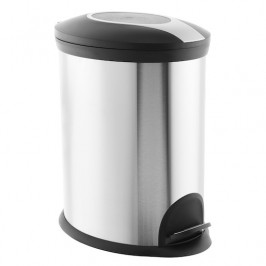 Odpadkový kôš voľne stojaci Optima 20 l nerez/čierna mat KOS20PLOVAL