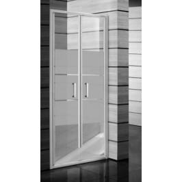 Sprchové dvere Jika Lyra plus dvojkrídlové 80 cm, nepriehľadné sklo, biely profil 5638.1.000.665.1