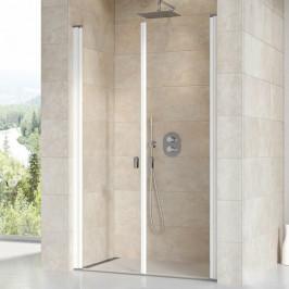 Sprchové dvere Ravak Chrome dvojkrídlové 100 cm, sklo číre, biely profil CSDL2100T0
