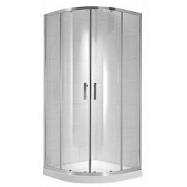 Sprchový kút Jika štvrťkruh 90 cm, sklo číre, chróm profil 5324.2.002.668.1
