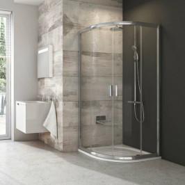 Sprchový kút Ravak Serie 200 štvrťkruh 90 cm, sklo číre, satin profil BLCP490TS