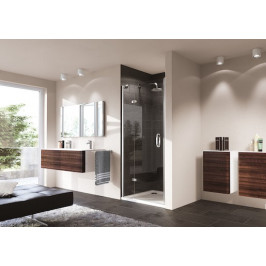 Sprchové dvere Huppe Strike jednokrídlové 80 cm, sklo číre, chróm profil, ľavé 430101.092.322