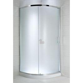 Sprchový kút Jika štvrťkruh 100 cm, R 550, nepriehľadné sklo, chróm profil 5024.3.002.666.1