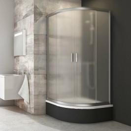 Sprchový kút Ravak Blix štvrťkruh 90 cm, R 500, nepriehľadné sklo, satin profil BLCP490SABGS