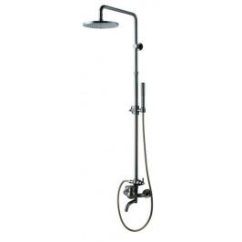 Sprchový systém Wf Industrial s pákovou batériou, oblý SIKOBWFSVS