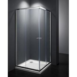 Sprchový kút Multi Basic štvorec 80 cm, nepriehľadné sklo, chróm profil, univerzálny SIKOMUQ80CRCH