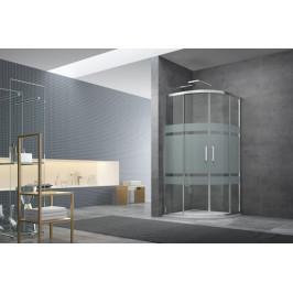 Sprchový kút Anima Tex štvrťkruh 80 cm, R 550, sklo stripe, chróm profil, univerzálny SIKOTEXS80CRS
