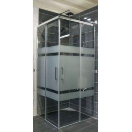 Sprchový kút Anima Tex štvorec 100 cm, sklo stripe, chróm profil, univerzálny SIKOTEXQ100CRS