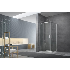 Sprchový kút Anima Tex štvorec 90 cm, sklo číre, chróm profil, univerzálny SIKOTEXQ90CRT