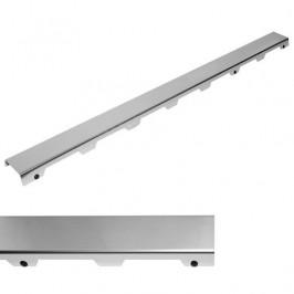 Rošt steel 120 cm Tece Drainline nerez lesk 601282