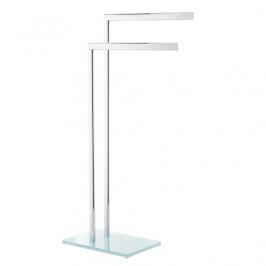Optima Držiak uterákov  hranatý Glass 40 cm, biela/chróm GLASDRZRUCB