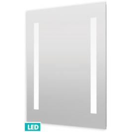 Naturel Zrkadlo s osvetlením led Iluxit 60x70 cm IP44, s vykurovacou fóliou a senzoro ZIL6070TLEDS
