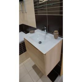Kúpeľňová skrinka s umývadlom Naturel Ancona 60x46 cm akácie ANCONAS60Z