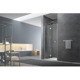 Sprchové dvere Anima SK skladací 80 cm, sklo číre, chróm profil, univerzálny SIKOSK80