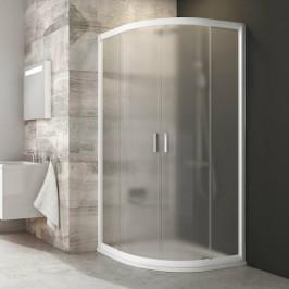 Sprchový kút Ravak Serie 200 štvrťkruh 80 cm, nepriehľadné sklo, biely profil BLCP480G0