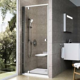 Sprchové dvere Ravak Serie 300 jednokrídlové 80 cm, sklo číre, satin profil PDOP180TS