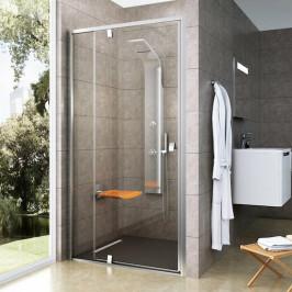 Sprchové dvere Ravak Serie 300 jednokrídlové 120 cm, sklo číre, satin profil PDOP2120TS