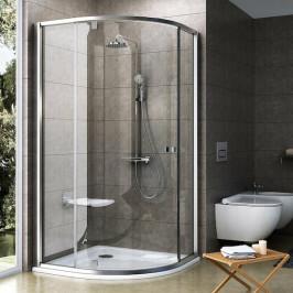 Sprchový kút Ravak Serie 300 štvrťkruh 90 cm, sklo číre, satin profil PSKK390TS