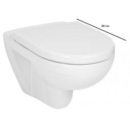 Závesné WC Jika Lyra plus, zadný odpad, 49cm 2338.2.000.000.1