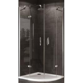 Sprchový kút Huppe Strike štvrťkruh 90 cm, R 550, sklo číre, chróm profil, univerzálny 430803.092.322